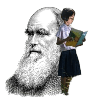 darwin and a girl