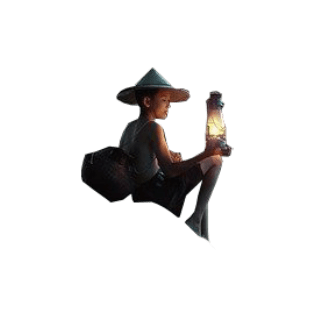 boy with light